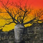 Boab & Ghosts, 2010, Acrylic on canvas, 183 x 122cm