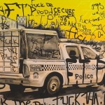 Fuck Tha Police, 2008, Acrylic on canvas, 153 x 107cm