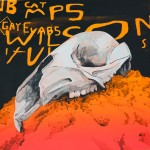Wallaby Skull, 2010, Acrylic on canvas, 76 x 76cm
