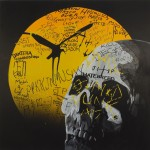 Skull, 2008, Acrylic on canvas, 102 x 102cm