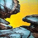 Blue Rock Study, 2012, Acrylic on canvas, 46 x 61cm