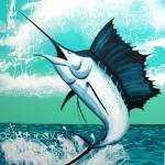 Sailfish, 2012, Acrylic on canvas, 112 x 154cm