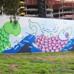 Adelaide City Council North Tce Mural, 2012