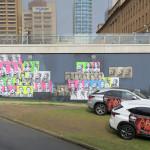 James Dodd Cabaret Festival Carpark Wall